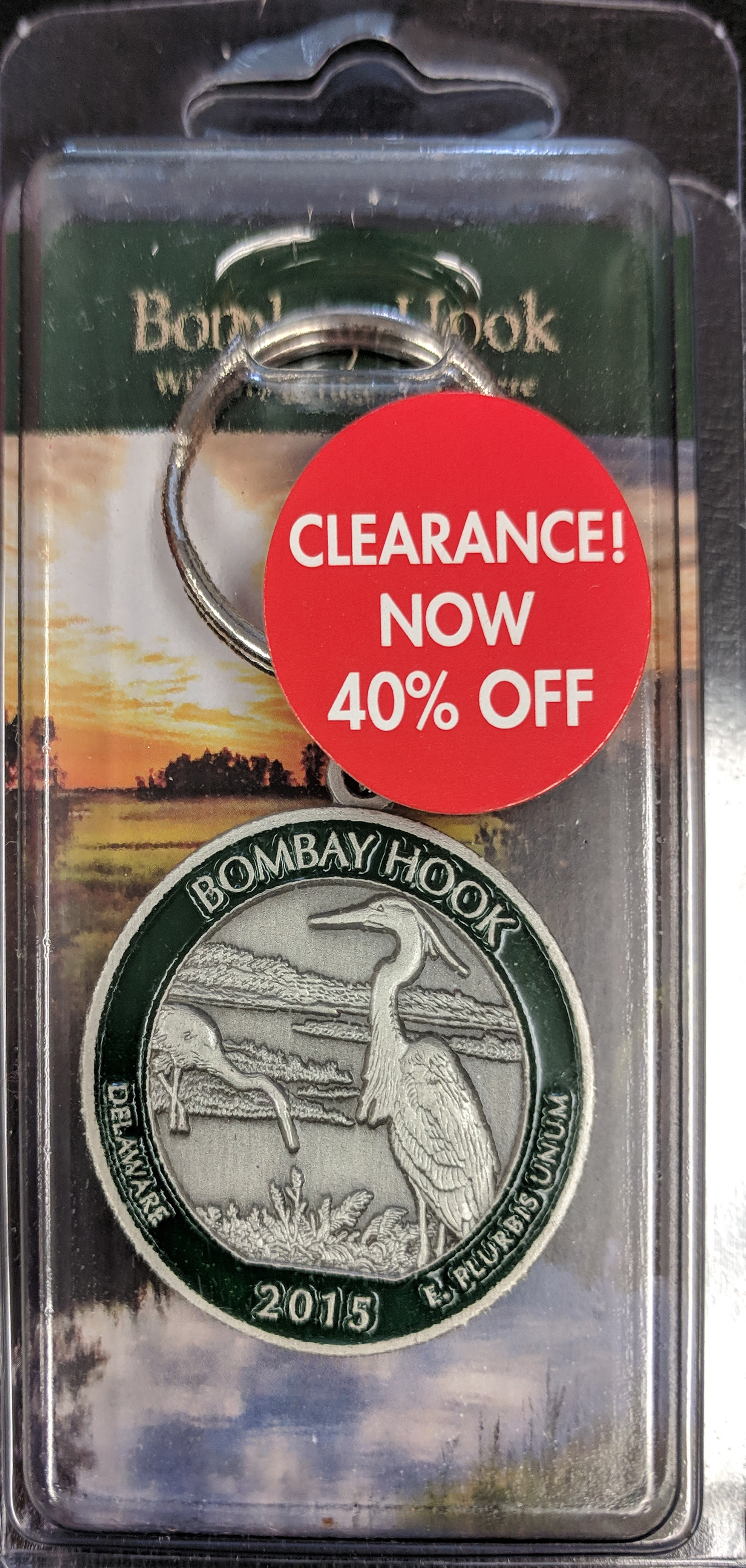 Bombay Hook NWR Quarter Key Chain