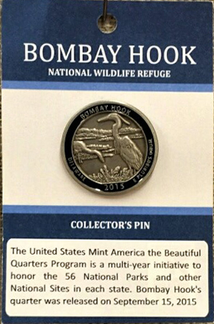 Bombay Hook Quarter Lapel Pin